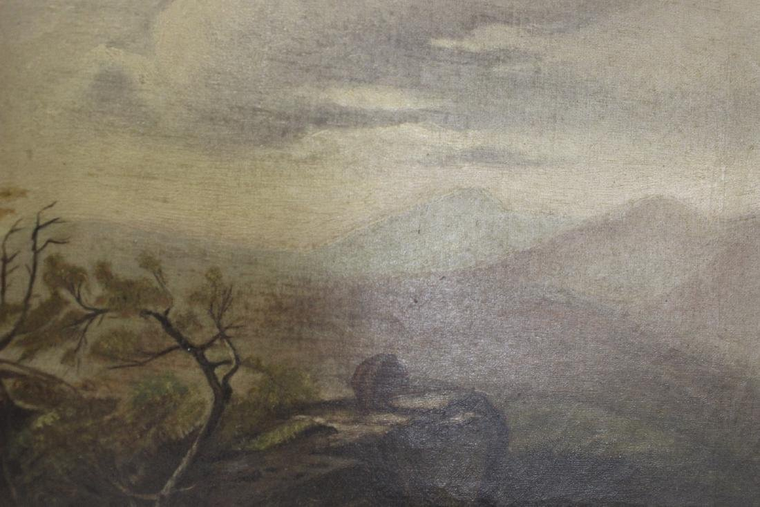 An Oil on Canvas - Mountain Scene - 2