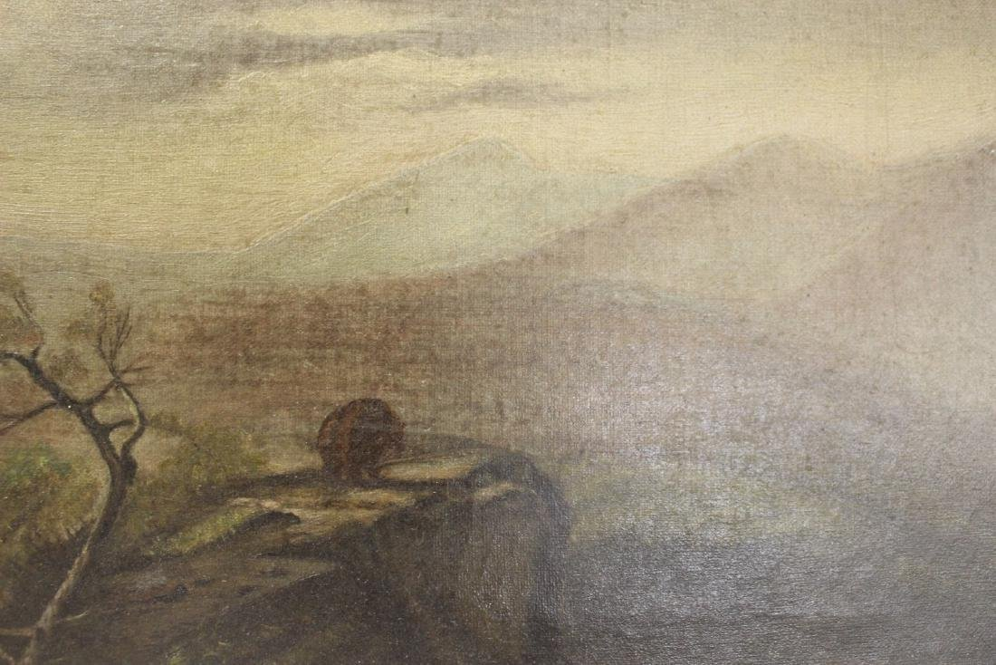 An Oil on Canvas - Mountain Scene - 3