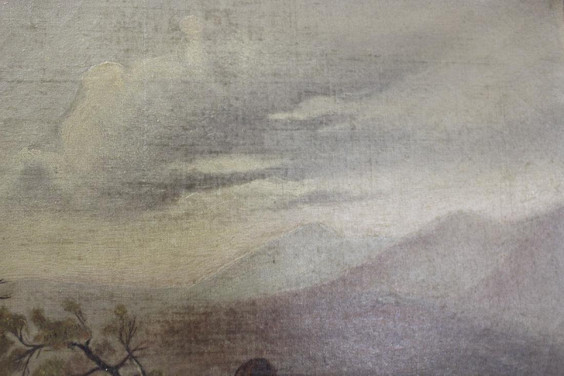 An Oil on Canvas - Mountain Scene - 4