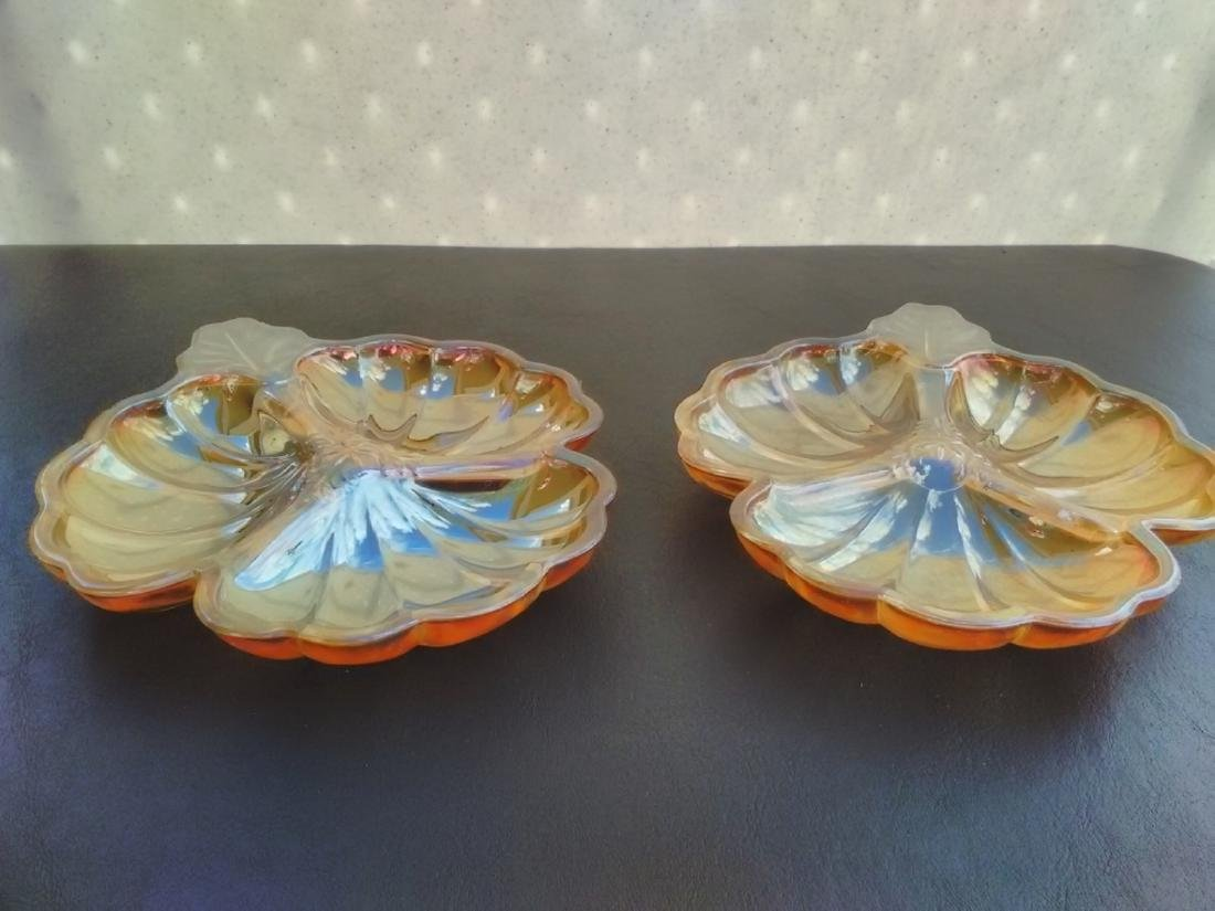 A Pair of Carnival Leaf Form Dishes