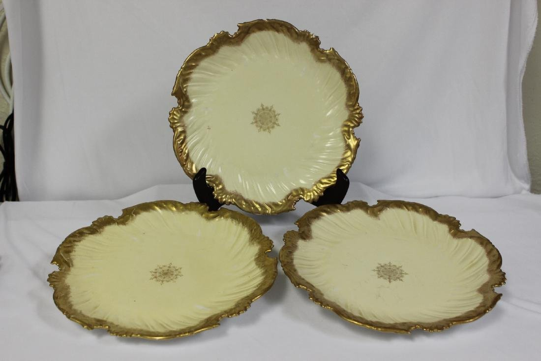 Lot of 3 Limoge Plates