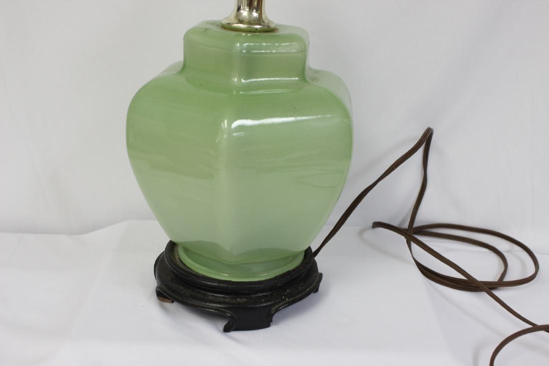 A Green Glass Lamp - 2