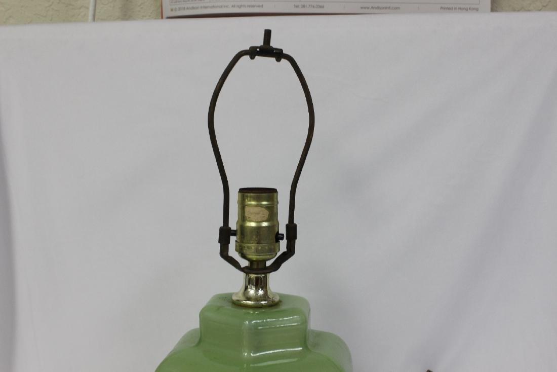 A Green Glass Lamp - 3