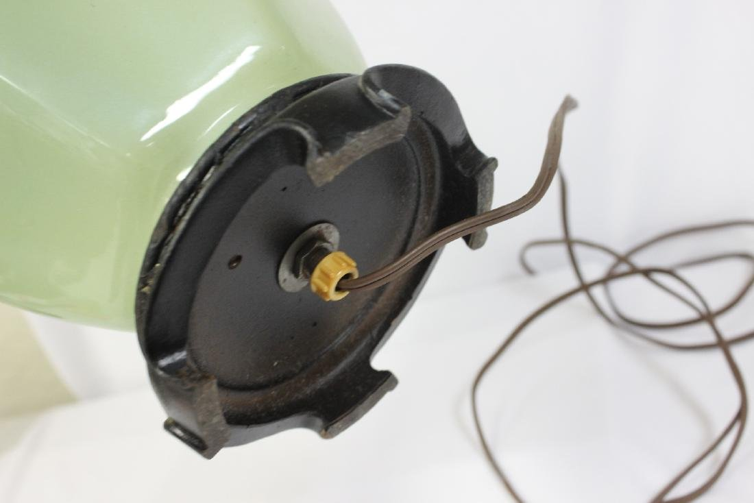 A Green Glass Lamp - 5