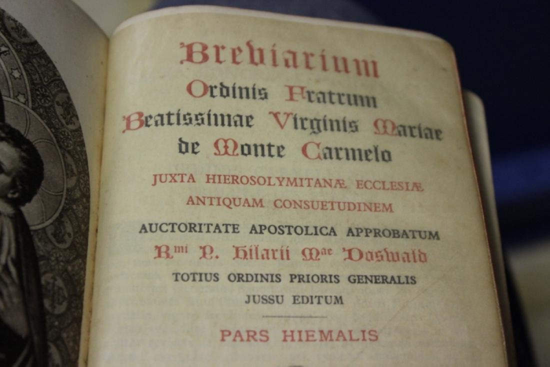 A Leather Bound Book - Brevarium Carmel - 6