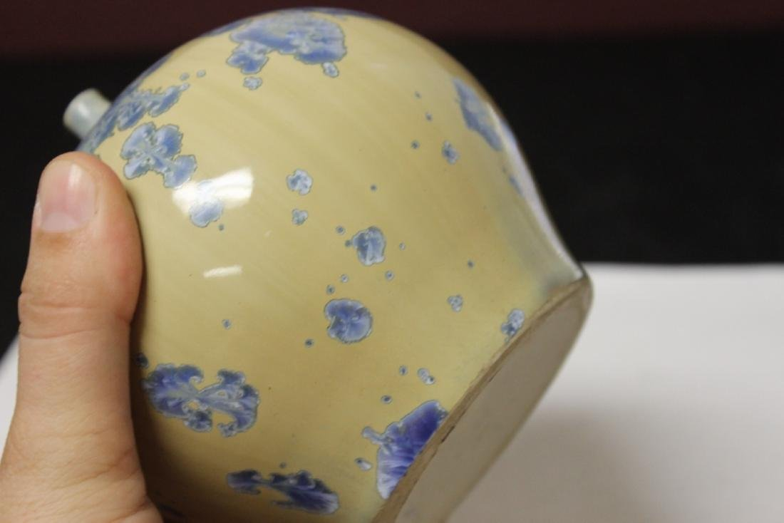 A Ceramic Vase - Irredesent and Signed - 3