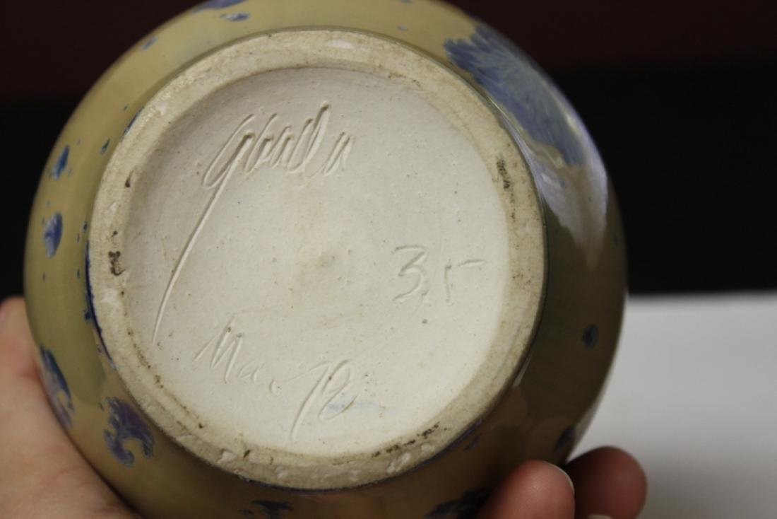 A Ceramic Vase - Irredesent and Signed - 4