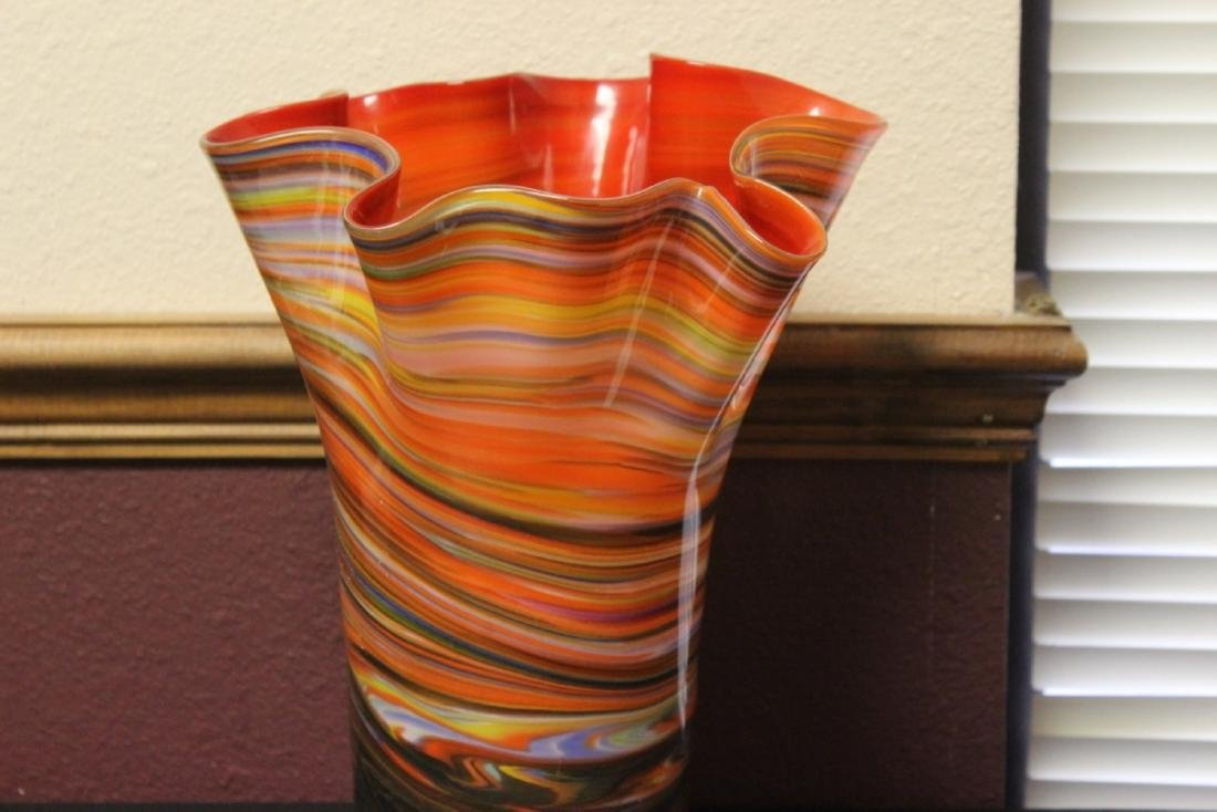 A Large Art Glass Vase