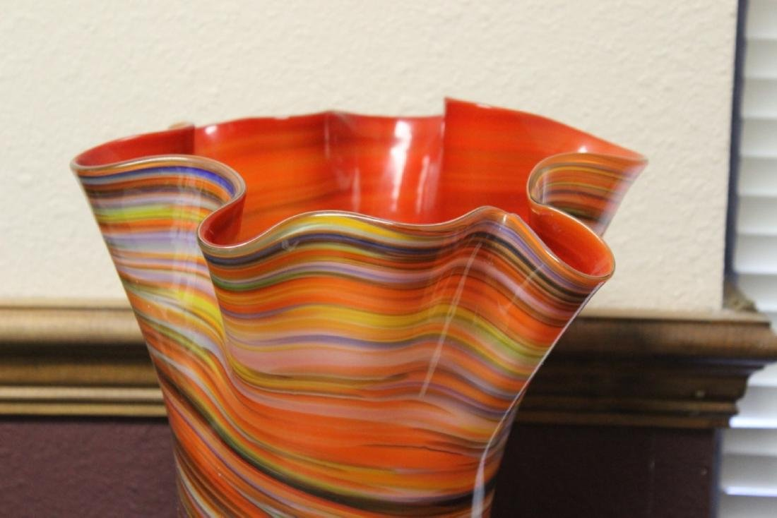 A Large Art Glass Vase - 2