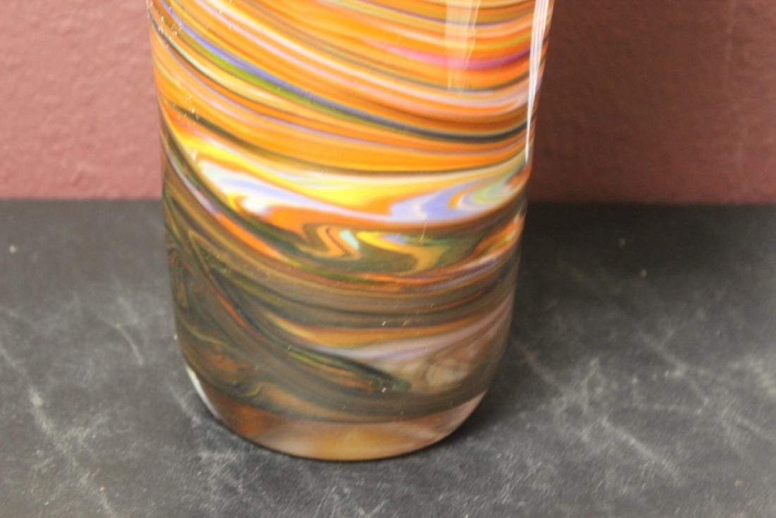A Large Art Glass Vase - 6