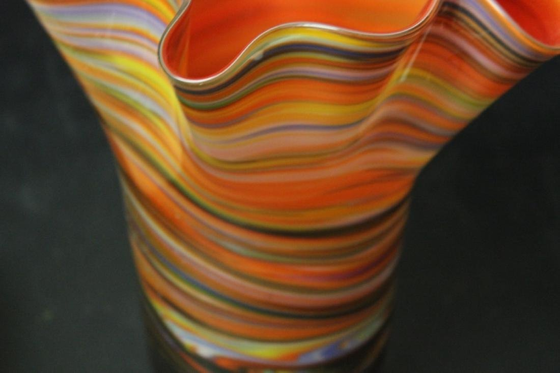 A Large Art Glass Vase - 8