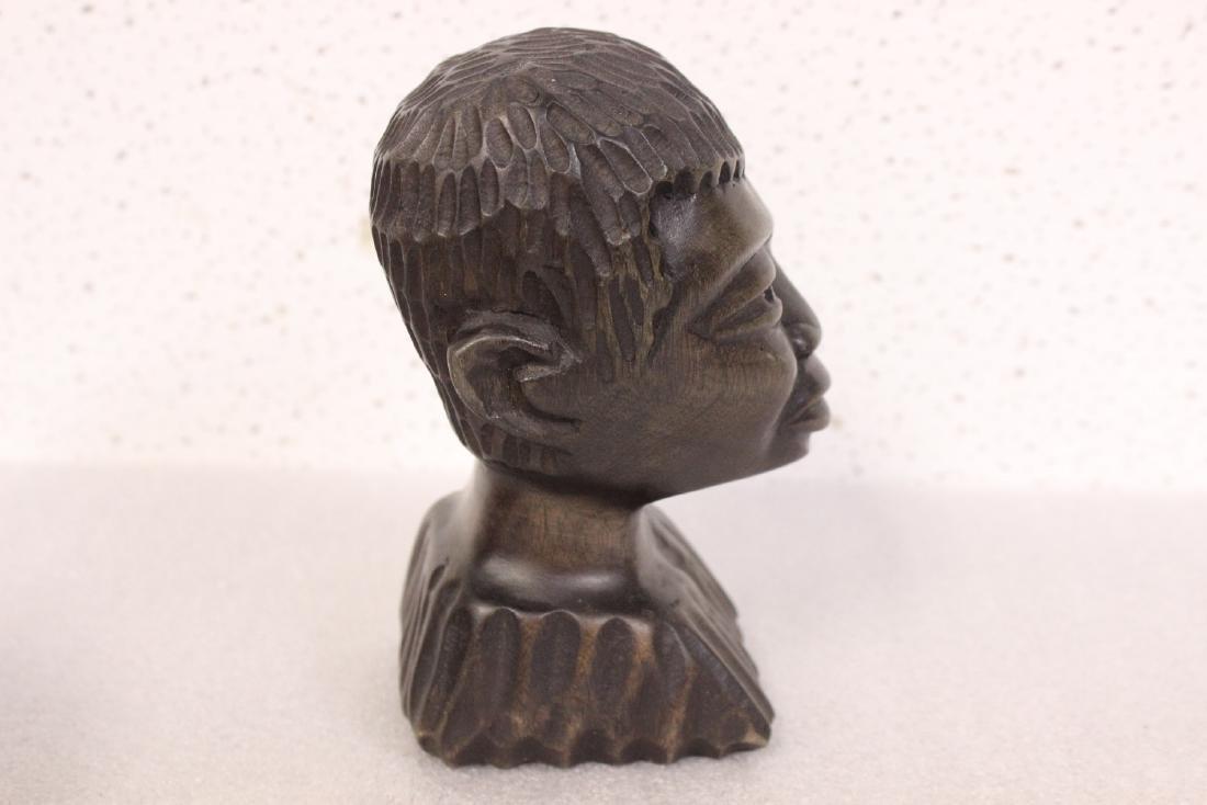 A Signed Wood Figurine - 4
