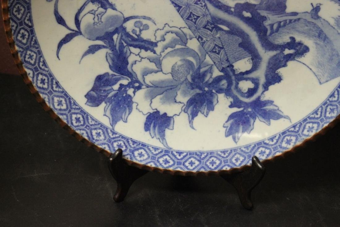 A 19th Century Japanese Blue and White Charger - 3