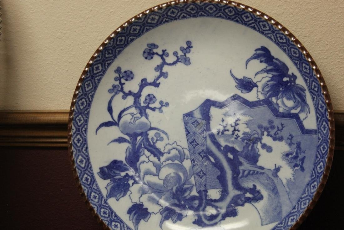 A 19th Century Japanese Blue and White Charger - 5