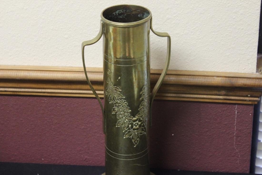 A Trench Art Two Handle Vase