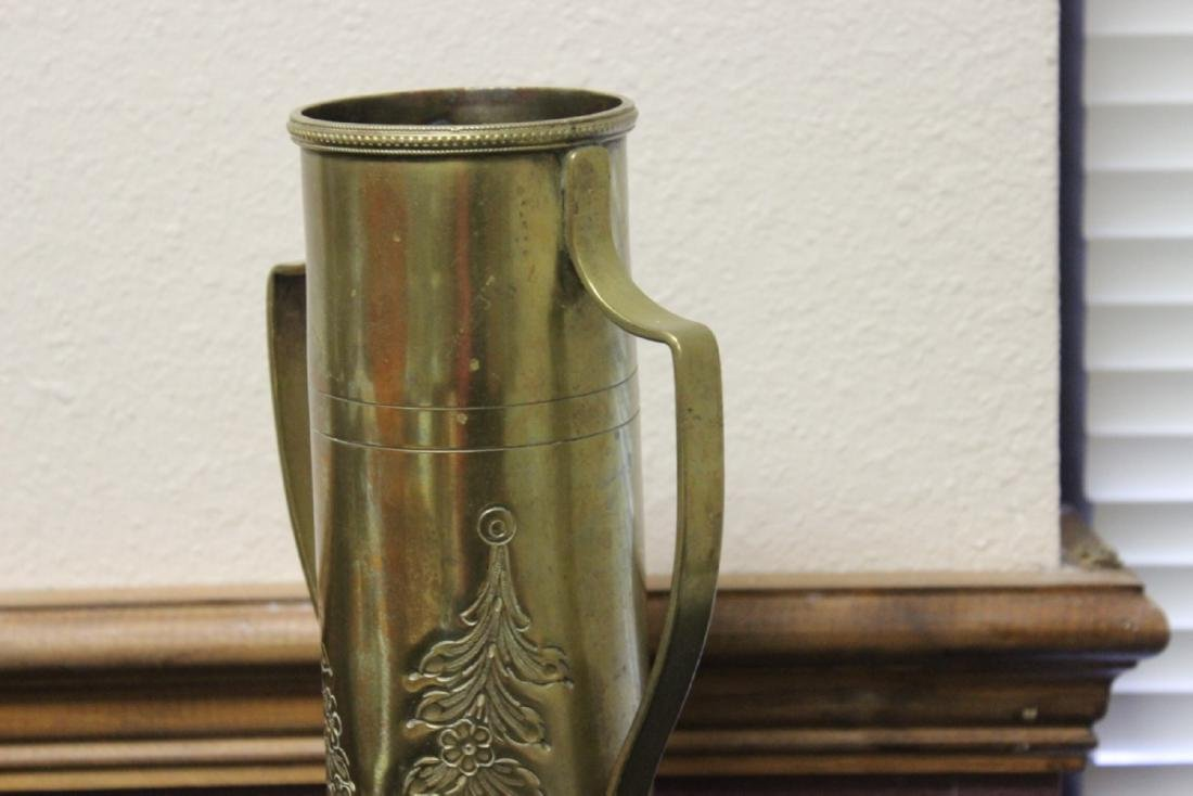 A Trench Art Two Handle Vase - 5