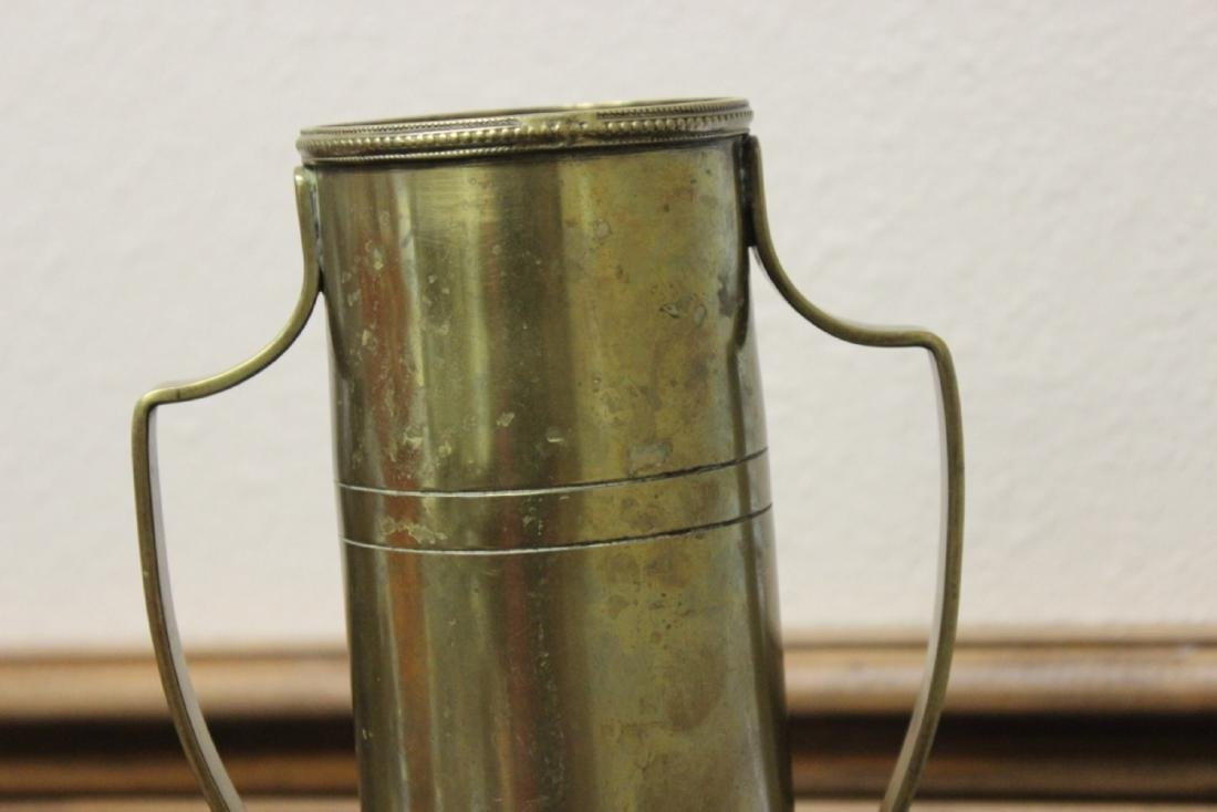 A Trench Art Two Handle Vase - 8