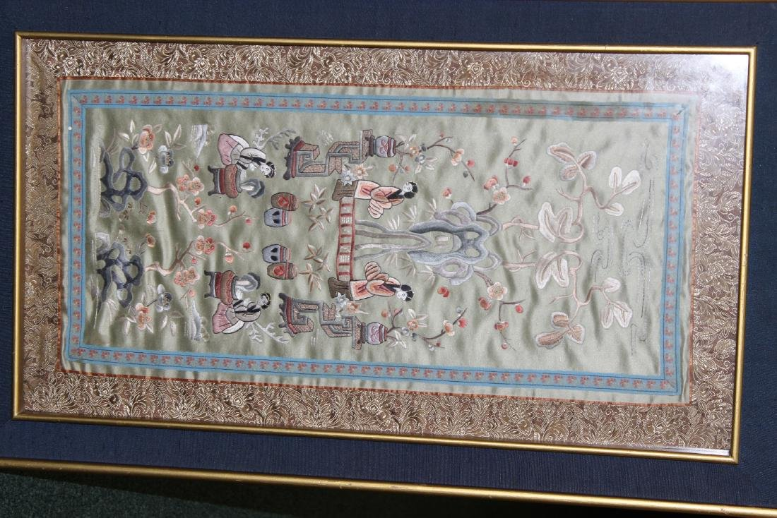 A Framed Chinese Silk