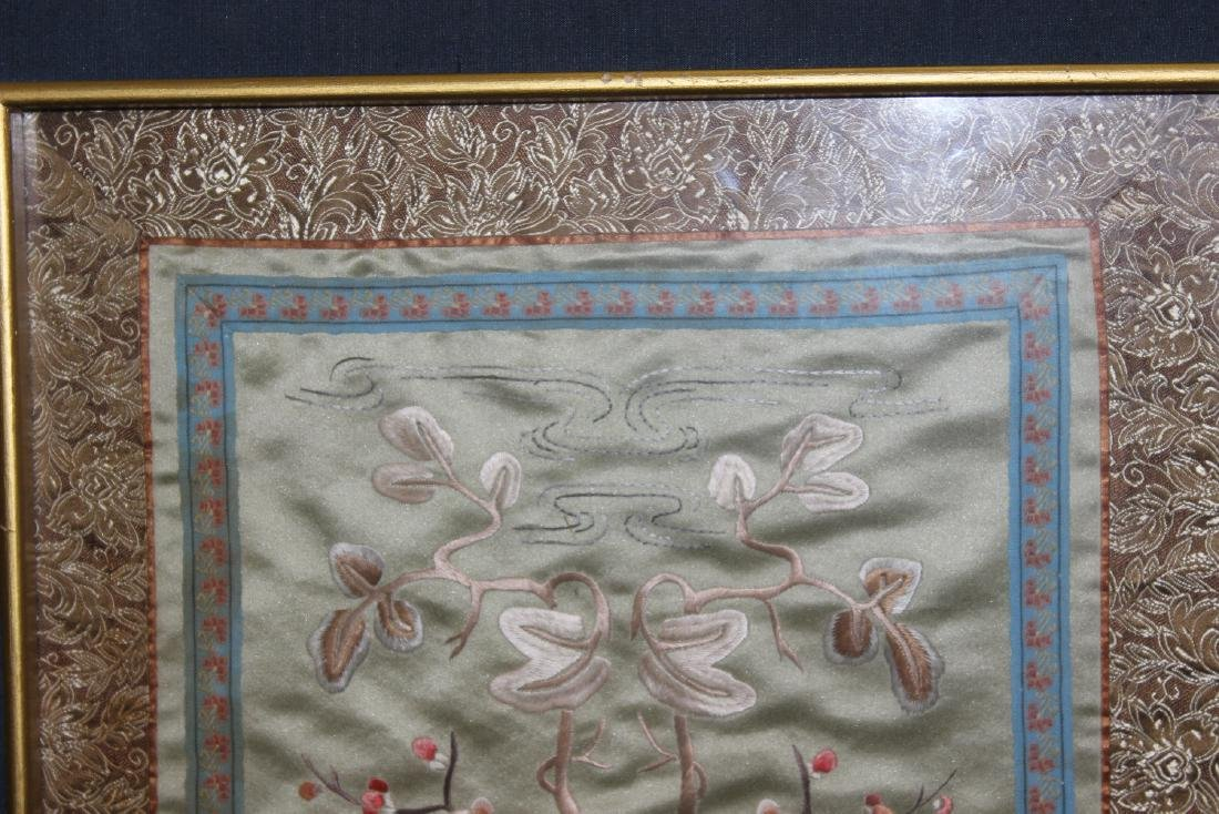 A Framed Chinese Silk - 2