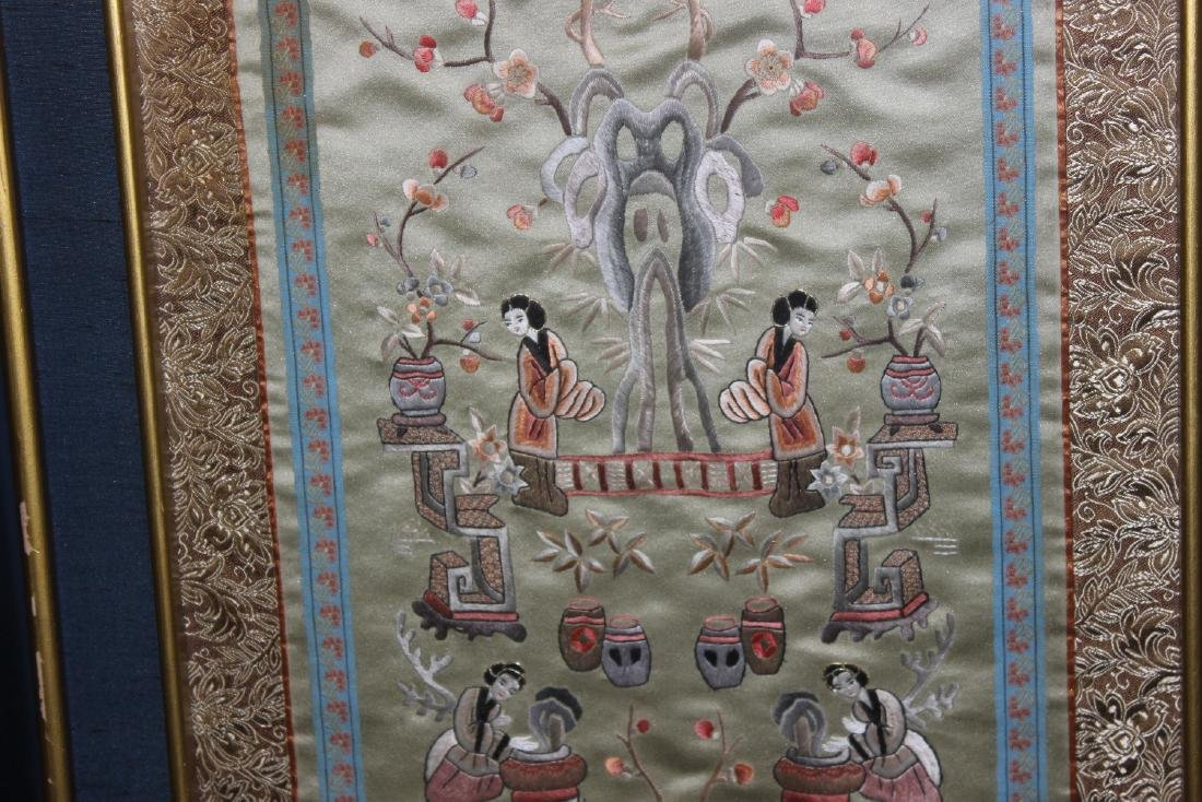 A Framed Chinese Silk - 4
