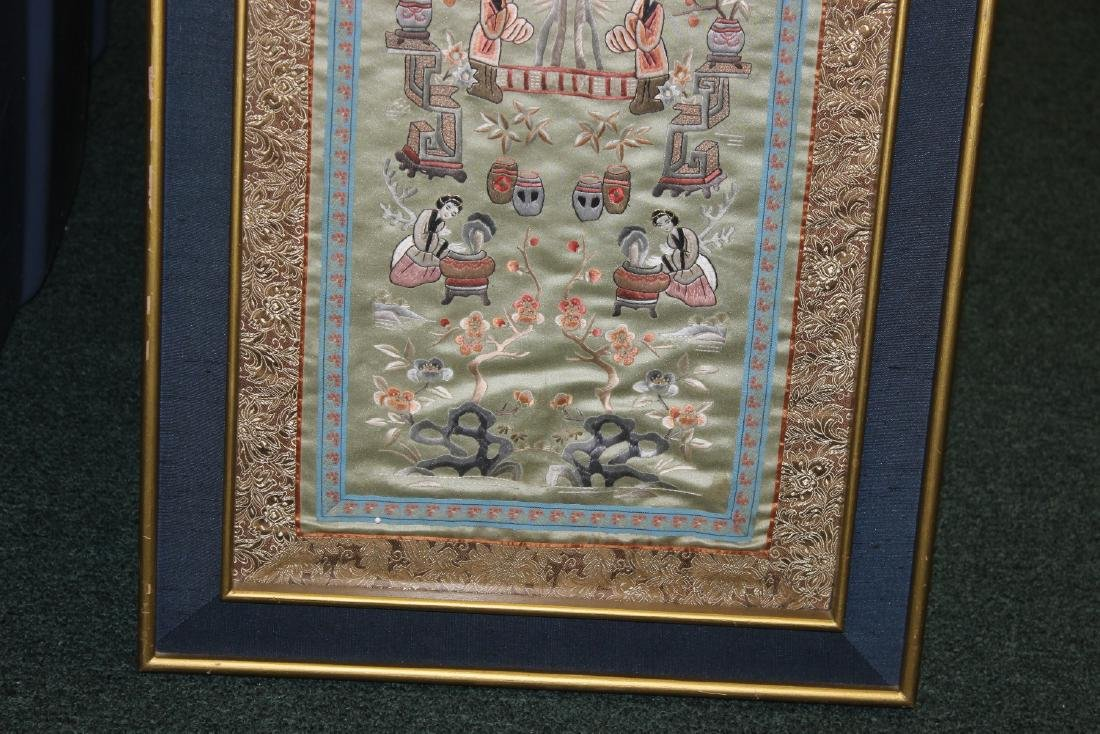 A Framed Chinese Silk - 5
