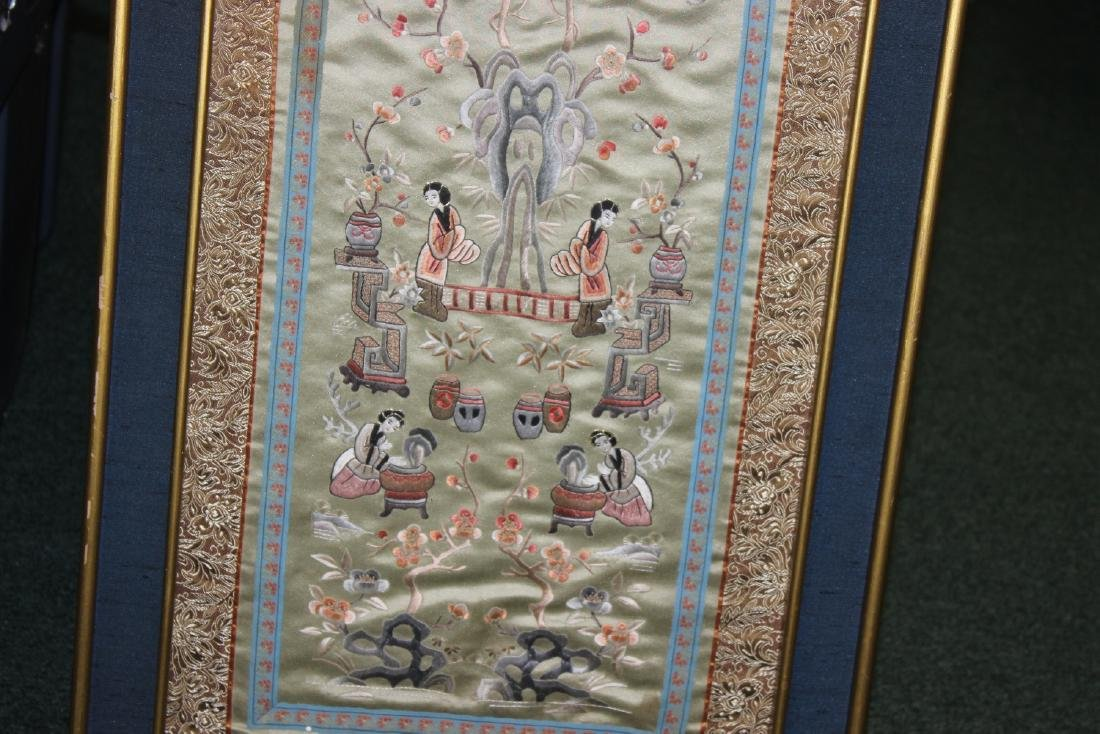 A Framed Chinese Silk - 6