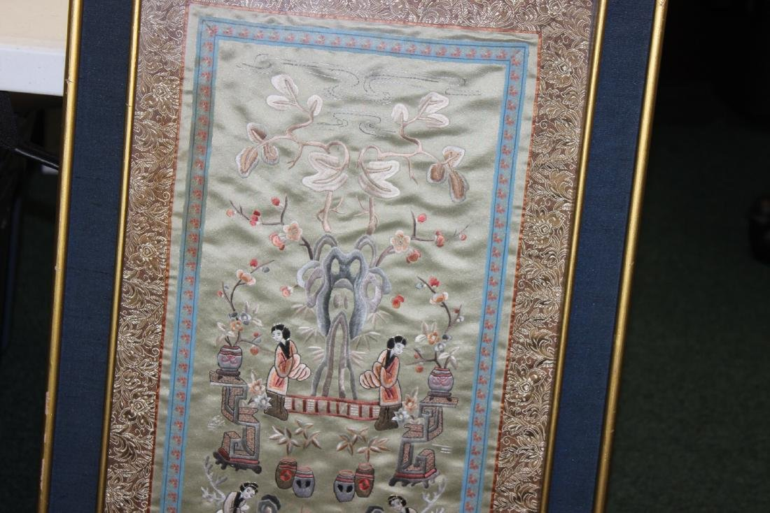 A Framed Chinese Silk - 7