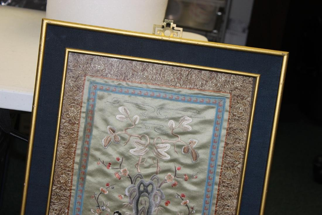 A Framed Chinese Silk - 8