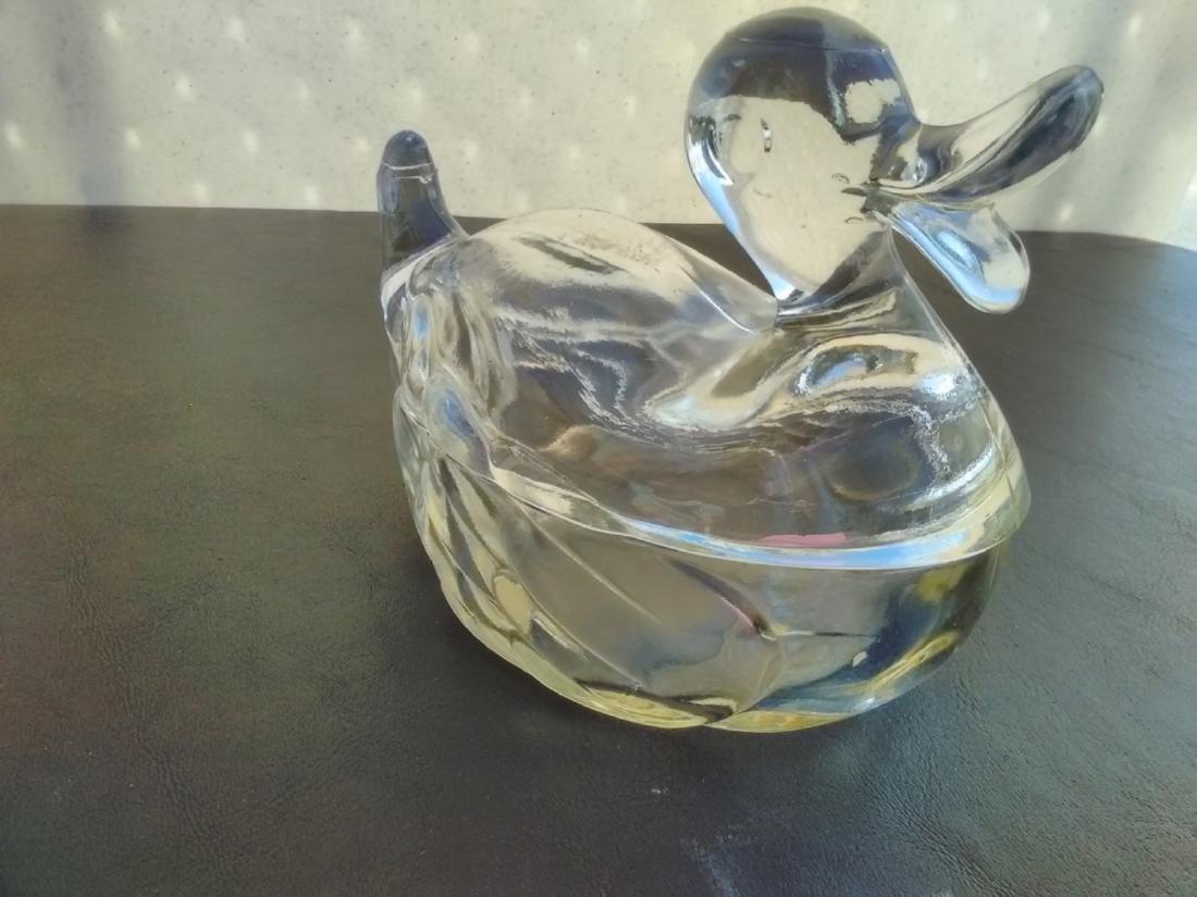 A Glass Duck Dish - 3
