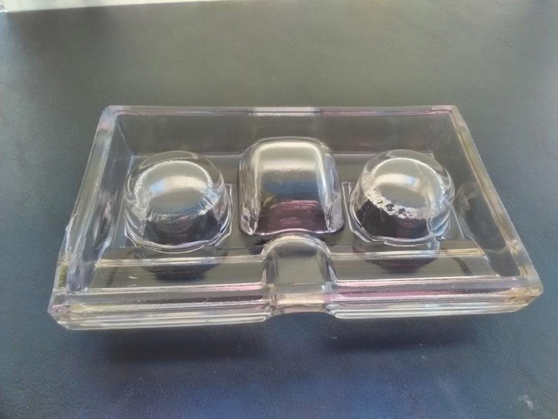 A Glass Inkwell - No Pen or Bottle - 3