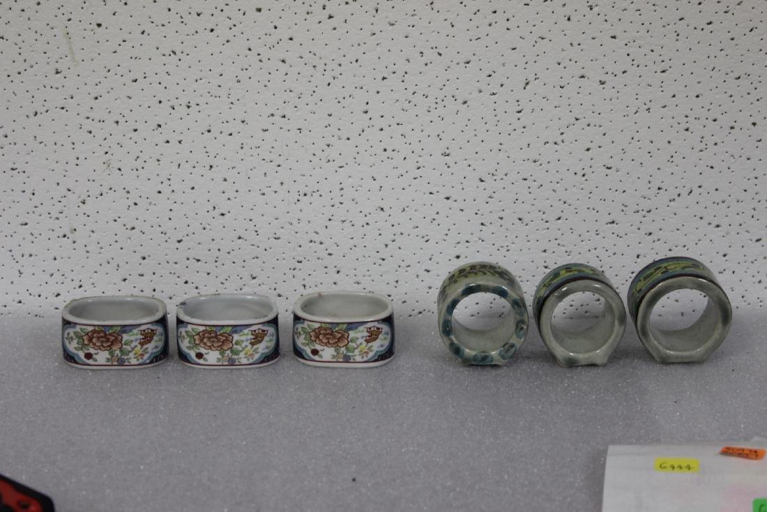 Lot of 6 Ceramic Napkin Rings