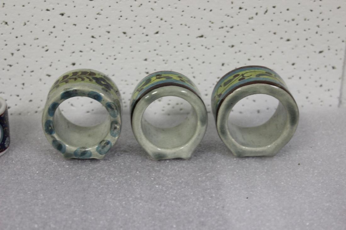 Lot of 6 Ceramic Napkin Rings - 2