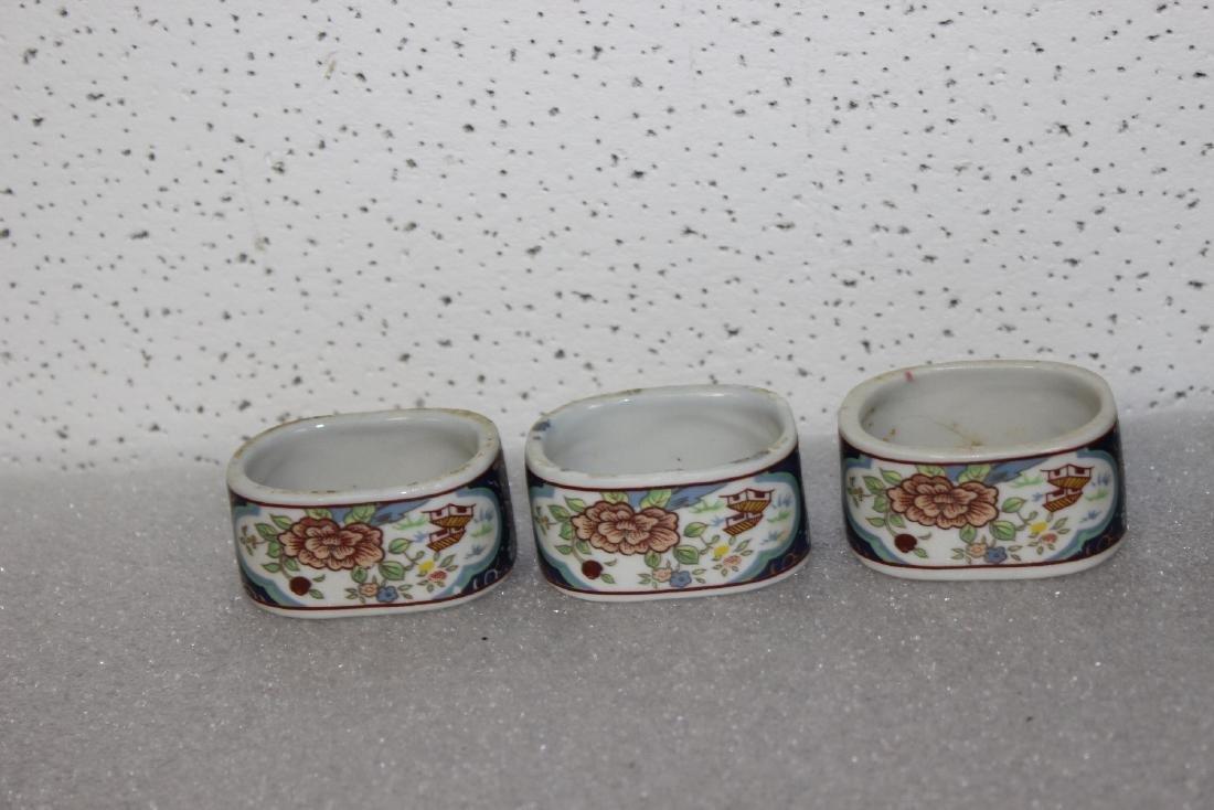 Lot of 6 Ceramic Napkin Rings - 3