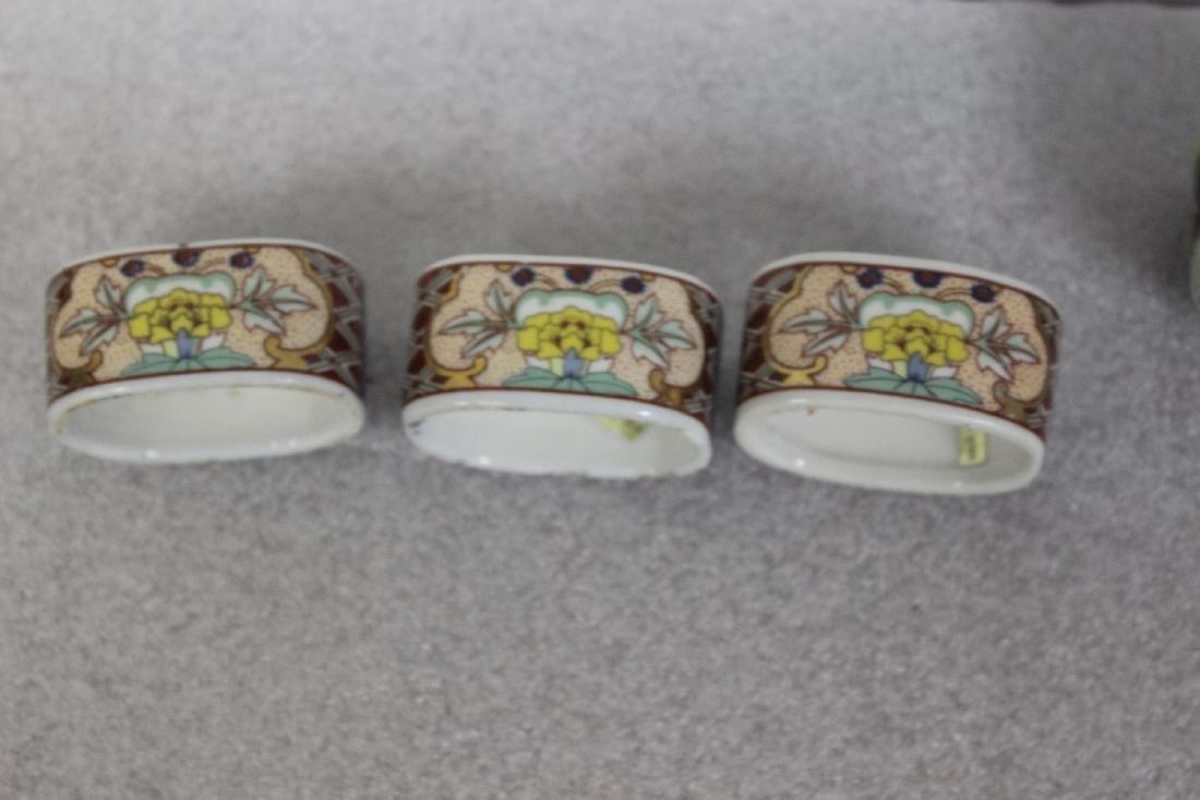 Lot of 6 Ceramic Napkin Rings - 4
