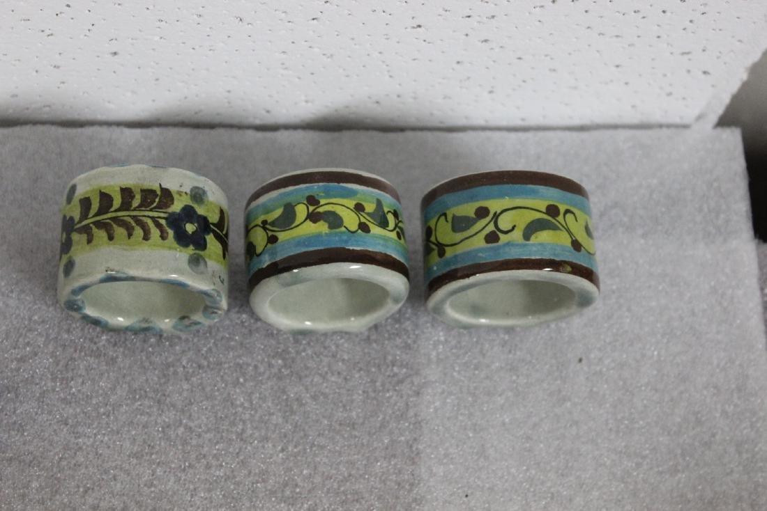 Lot of 6 Ceramic Napkin Rings - 5