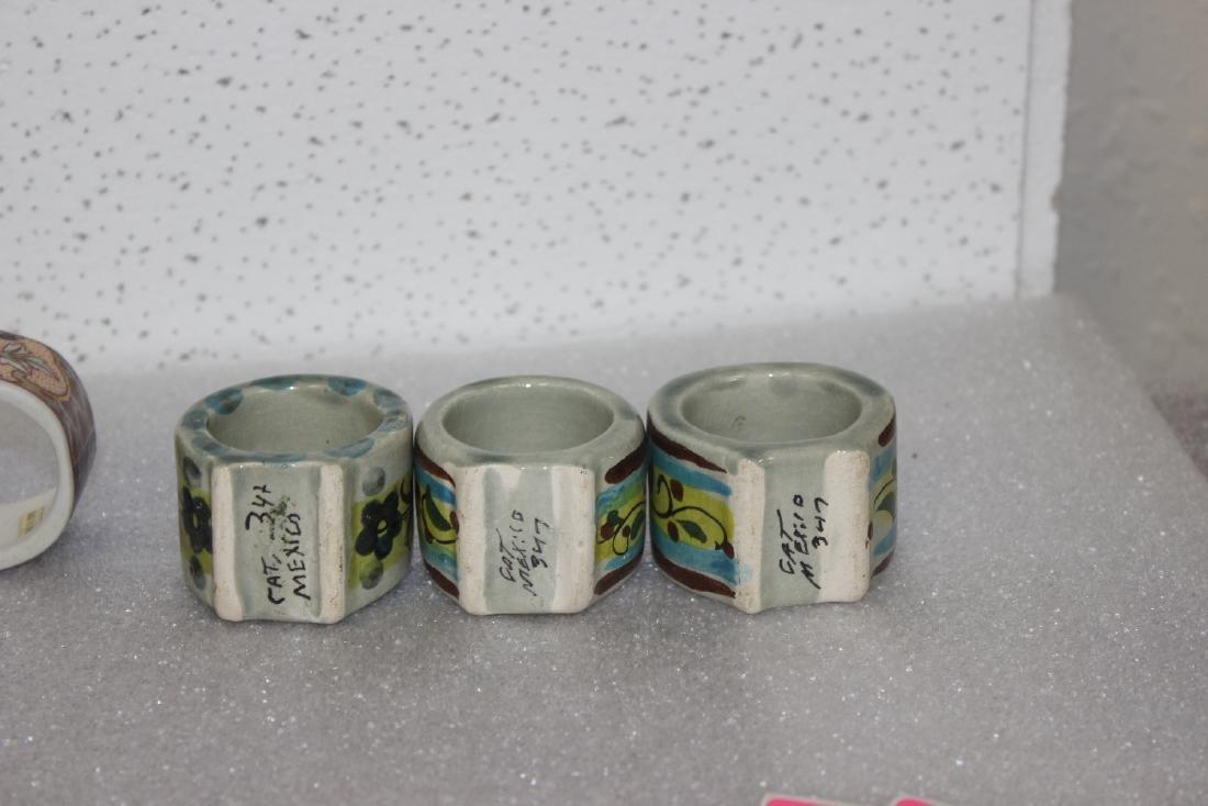 Lot of 6 Ceramic Napkin Rings - 6
