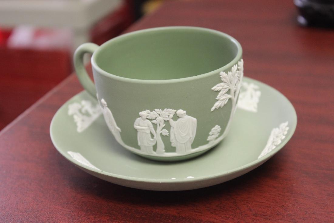 A Wedgwood Jasperware Teacup and Saucer