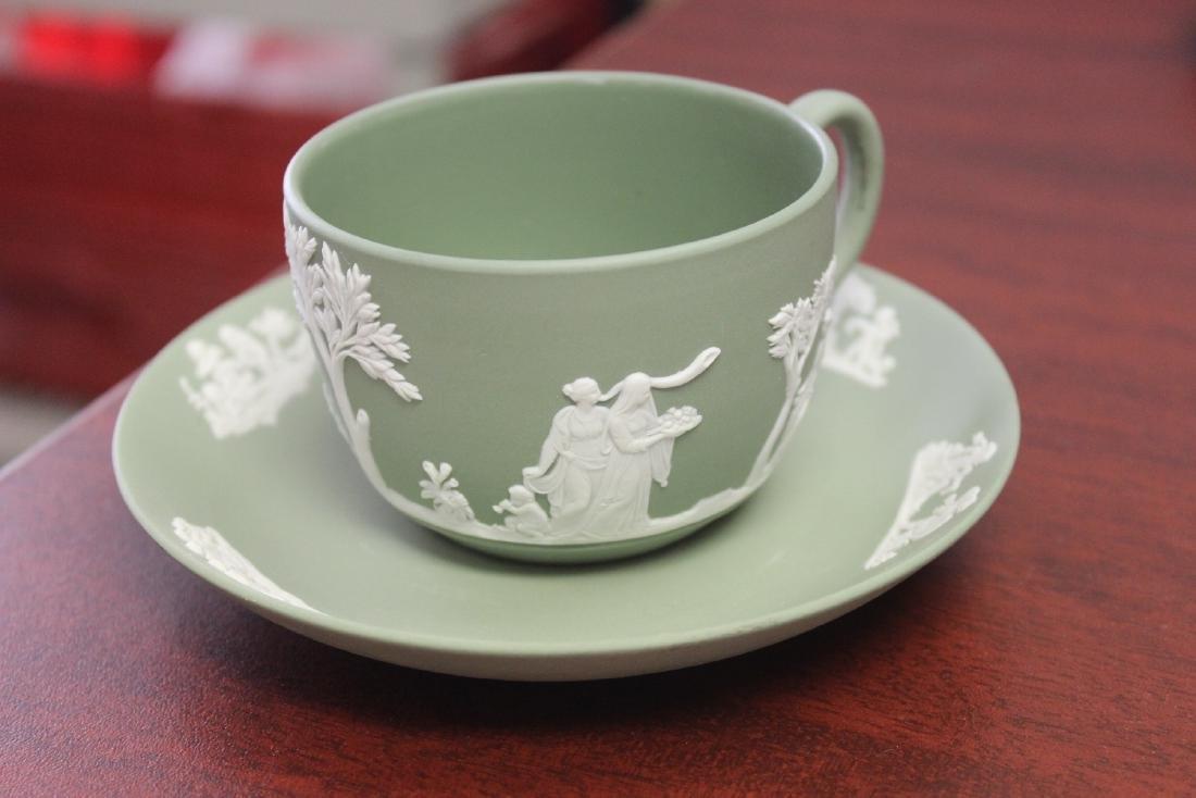 A Wedgwood Jasperware Teacup and Saucer - 3