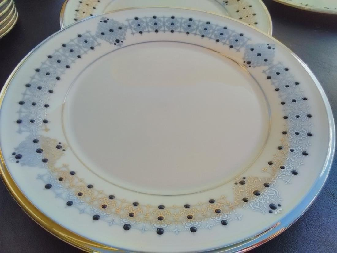 Set Of 6 Lenox Dinner Plates - Solitaire Pattern