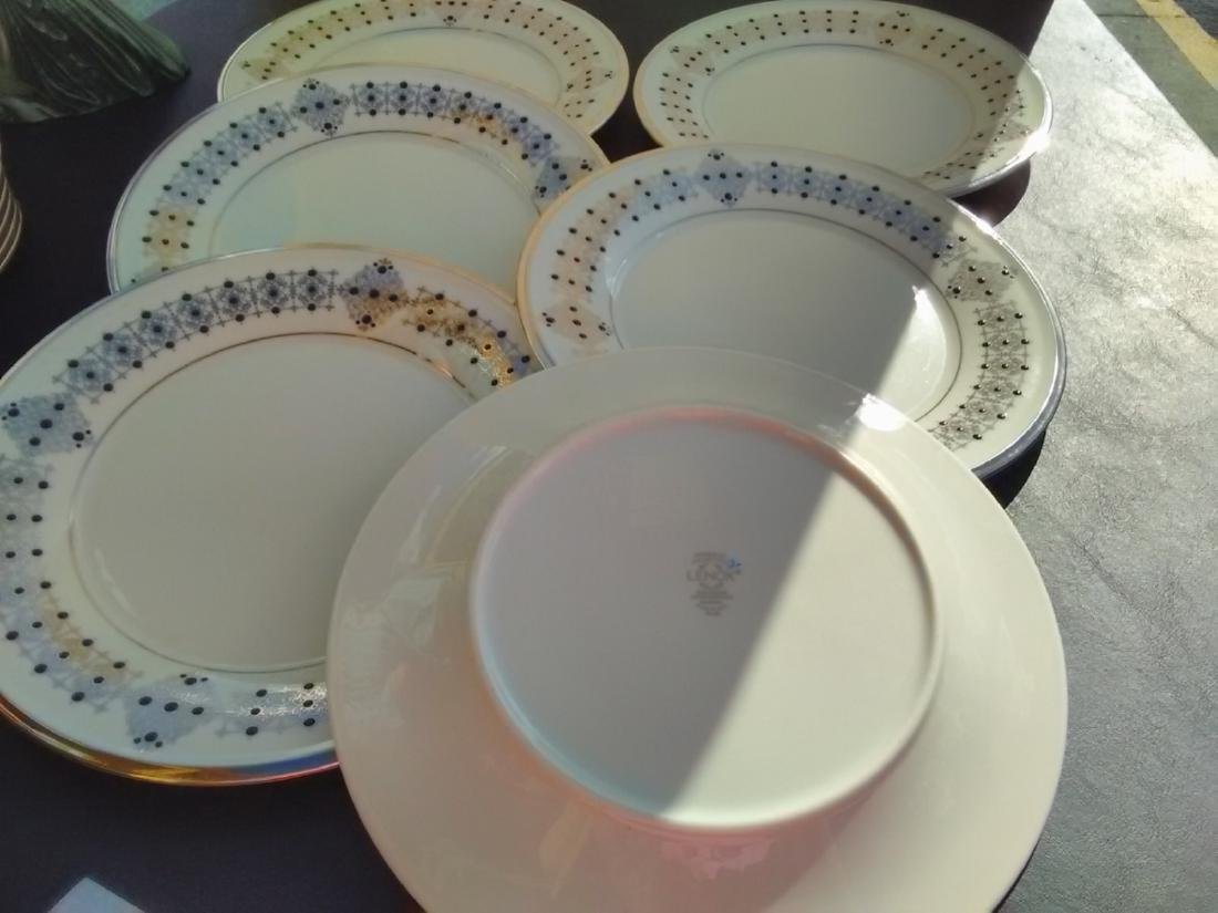 Set Of 6 Lenox Dinner Plates - Solitaire Pattern - 2