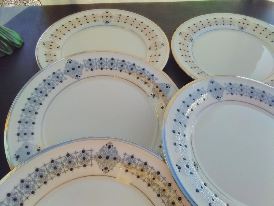 Set Of 6 Lenox Dinner Plates - Solitaire Pattern - 4