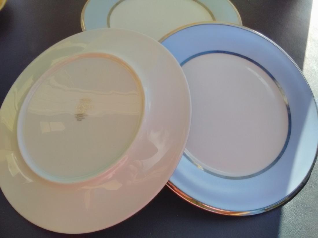 Set of 9 Lenox Blue Frost Salad Plates