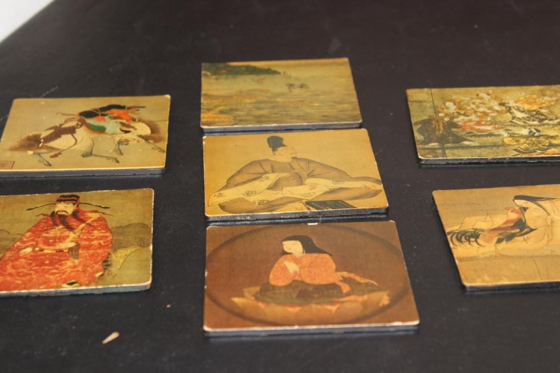 Lot of 7 Altman Coasters - Oriental Scene