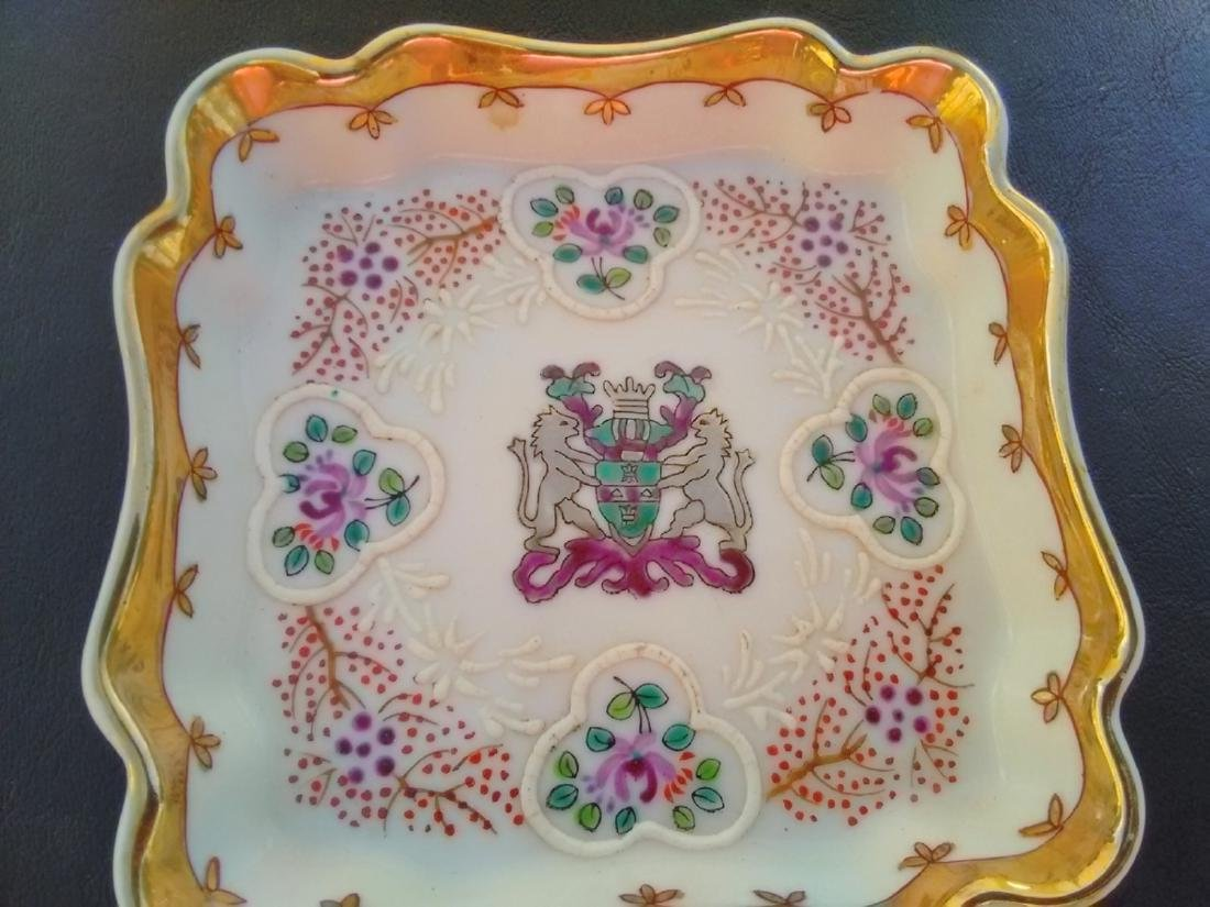 A Raised Square Tray - Embossed Decoration - 2