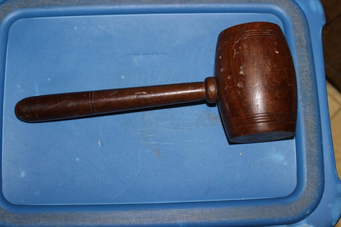 A Vintage Wooden Hammer - 2