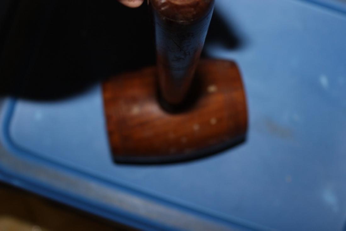A Vintage Wooden Hammer - 8