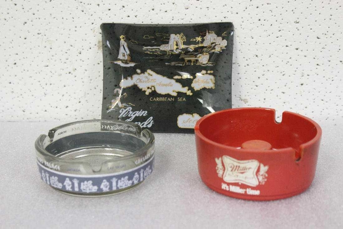 Lot of 3 Ashtrays