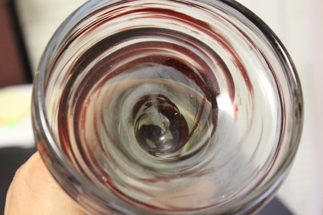 A Signed James Clarke Studio Art Glass Compote - 3