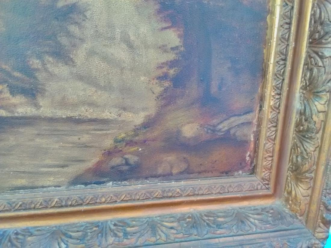 An Oil On Board 19th Century Waterfall - Unsigned - 2