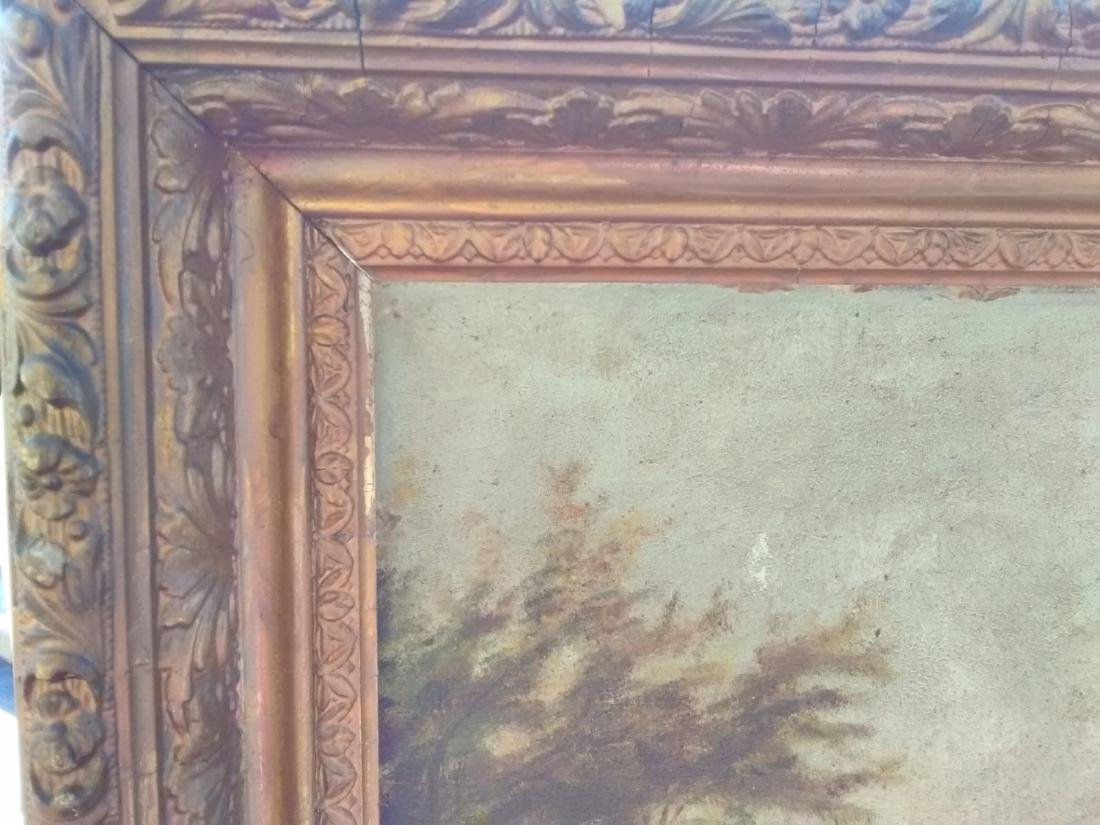 An Oil On Board 19th Century Waterfall - Unsigned - 4